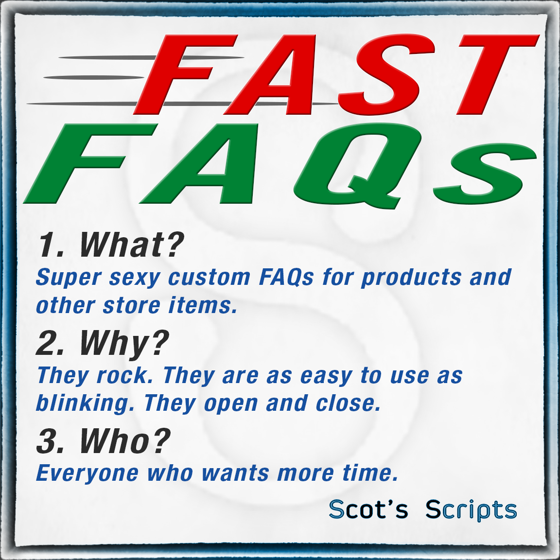 Easy Product FAQs for Miva Merchant